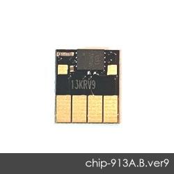 Чип для HP PageWide 352dw J6U57B, 377dw J9V80B, Pro 452dw, 477dw, 452dn, 477dn, 552dw, 577dw, 577z, P55250dw, P57750dw (совм. 913A L0R95A), автоматически обнуляемый, увеличенный ресурс как 973X, чёрный Black, версия 9