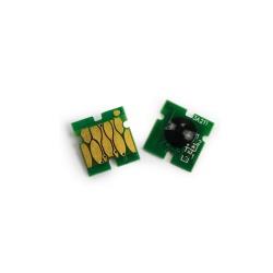 Чип для перезаправляемых картриджей (ПЗК/ДЗК) и СНПЧ к Epson SureLab SL-D800 (совм. T43U2), голубой / синий Cyan