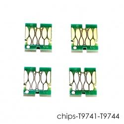 Чипы для Epson WorkForce Pro WF-C869RDTWF, WF-C869RDTWFSW (RIPS) (T9741-T9744), для картриджей / ПЗК / СНПЧ, совместимые, необнуляемые, комплект 4 цвета