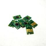 Чипы для перезаправляемых картриджей (ПЗК/ДЗК) плоттеров Epson Stylus Pro 7800, 9800, комплект 8 цветов (с фото чёрным)