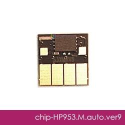 Чип для HP OfficeJet Pro 8210, 8710, 7740, 7720, 7730, 8720, 8730, 8725, 8218, 8715, 8740 (совм. HP 953, F6U13AE, F6U17AE), совместимый, авто обнуляемый, пурпурный Magenta, версия 9, работает с прошивкой 2006, 2007