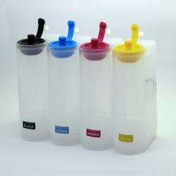 Емкости-доноры для СНПЧ на 4 цвета, с широкими горловинами, 320 мл