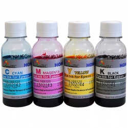 Чернила для Epson L1110, L3100, L3101, L3110, L3111, L3150, L3151, L3156, L3160, L5190, ET-2710, ET-2711, ET-4700 (Фабрика Печати / Ecotank, аналог оригинальных чернил 103 / 104), водные DCTec, 4 цвета по 100 мл