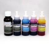 Чернила светостойкие для Epson Expression Premium XP-6000, XP-6005, XP-6100, XP-6105, DCTec пигмент + водные, 5 цветов 100 / 70 мл