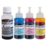 Чернила светостойкие для Epson L655, L1455, L605, ET-2700, ET-2750, ET-3600, ET-3700, ET-3750, ET-4550, ET-4750, ET-16500, (Фабрика Печати / Ecotank), пигмент+водные DCTec, 4 цвета 100 / 70 мл