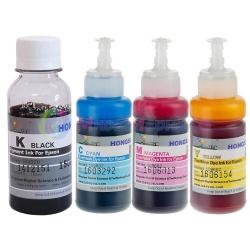Чернила светостойкие для Epson L4160, L4150, L4167, L655, L1455, L605, L6160, L6170, L6190, ET-2700, ET-2750, ET-3600, ET-3700, ET-3750, ET-4550, ET-4750, ET-16500, (Фабрика Печати / Ecotank), пигмент+водные DCTec, 4 цвета 100 / 70 мл