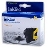 Желтый картридж для Brother DCP-195C, DCP-6690CW, MFC-990CW, DCP-385C, DCP-165C, DCP-145C, MFC-250C, MFC-6490CW, MFC-5895CW, MFC-5890CN, MFC-290C, DCP-585CW, DCP-185C, MFC-6490CN совместимые InkTec BCI-1100HY (LC980Y, LC1100Y, LC65Y, LC67Y, LC38Y)