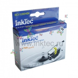 Картридж черный для Brother MFC-J6510DW, MFC-J5910DW, MFC-J6910DW, MFC-J825DW, DCP-J525W, MFC-J430W, MFC-J6710DW, DCP-J725DW, MFC-J6710CDW, MFC-J6910CDW, MFC-J432W, DCP-J925DW (LC1240BK, LC1280XLBK, LC1220BK), совместимый InkTec BCI-1280HBK Black