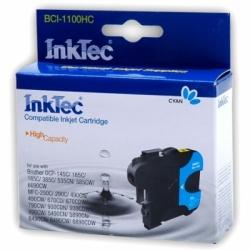 Голубой картридж для Brother DCP-195C, DCP-6690CW, MFC-990CW, DCP-385C, DCP-165C, DCP-145C, MFC-250C, MFC-6490CW, MFC-5895CW, MFC-5890CN, MFC-290C, DCP-585CW, DCP-185C, MFC-6490CN совместимые InkTec BCI-1100HC (LC980C, LC1100C, LC65C, LC67C, LC38C)