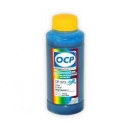 Чернила OCP голубые, синие для HP Officejet Pro 8000/8500 для картриджей HP 940, 940XL, СР 272, Cyan, пигментные, 100 мл