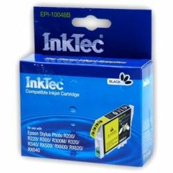 Картридж для Epson Stylus Photo R300, R220, R200, RX500, R320, RX620, R340, RX600, RX640 совместимый черный InkTec EPI-10048B (T0481) Black