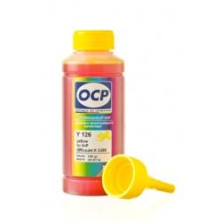 Чернила OCP для HP OfficeJet Pro K8600, K5400, K550, L7580, L7480, L7680, L7590, L7780 (под картриджи 18, 88), OCP Y 126 водные, жёлтые Yellow, 100 мл