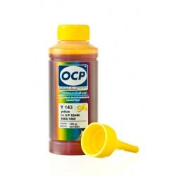 Чернила OCP для HP Photosmart 5510, C4683, B110, 7510, B010, B210, 6510, Deskjet 3070a, F2483, F4283, F2423, F4583, F2400, Officejet 7000, 4500, 6000, 7500a, 6500, Envy 110 (под картриджи 121, 178, 364, 901, 920), OCP Y 143 водные, жёлтые Yellow, 100 мл