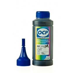 Чернила OCP BKP 111 для Epson Stylus Photo R800, R1800, R1900, R2000 (картриджи T0548, T1598, T0878), матово чёрные Matte Black, пигментные, 100 мл