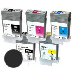 Картридж PFI-102MBK для Canon imagePROGRAF iPF605, iPF710, iPF750, iPF760, iPF765, iPF510, iPF500, iPF600, iPF610, iPF650, iPF700, iPF720, Matte Black, совместимый, 130 мл