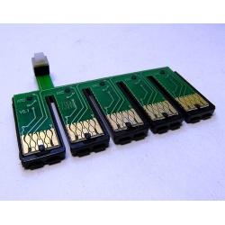 Чип для СНПЧ к Epson Office T1100 с кнопкой сброса  (планка чипов)