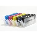 Перезаправляемые нано-картриджи Bursten Nano-1 для HP DeskJet 3070a, 3070, HP Photosmart 5510, B110, B110b (CN245C), 6510, B010b, B210b, 5515, B109b, B109c, B209a, 5520, B110a, C410 (HP 178/XL, 4 картриджей), с чипами