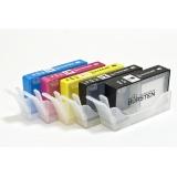 Перезаправляемые нано-картриджи Bursten Nano-1 для HP Photosmart 7510, C5383, D5463, C5380, C310b (CN503c), C6383, D5460, C410c, B109n, C6380, B8553, D7560, C309g, C6375, B8550, C309h, C6324, C310a, C309c, C5324 (HP178 5 картриджей) с чипами
