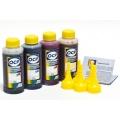 Комплект чернил OCP для HP DeskJet Ink Advantage 3635, 2135, 4535, 1115, 3835, 3775, 4675, 3785, 3787 (картриджи 652, 664, 680), пигмент + водные, 4 x 100 мл