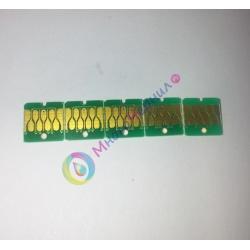 Чипы для Epson SureColor SC-T3000, SC-T3200, SC-T5000, SC-T5200, SC-T7000, SC-T7200 (для перезаправляемых картриджей ПЗК/ДЗК), комплект 5 цветов, не обнуляемые