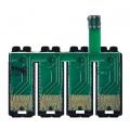 Чип к СНПЧ для Epson Expression Home XP-320, XP-420, XP-424, WorkForce WF-2760, WF-2750, WF-2630, WF-2650, WF-2660 для картриджей T220, с кнопкой сброса (планка чипов)