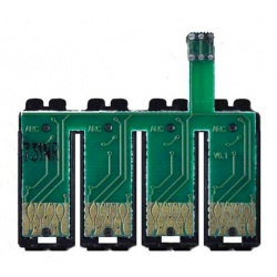 Чип к СНПЧ для Epson S22, SX130, SX125, SX230, SX235W, SX420W, SX430W, SX435W, SX438W, SX445W, BX305F, SX425W T1281-T1284, с кнопкой сброса  (планка чипов)