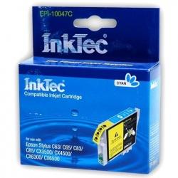 Картридж для Epson Stylus CX3500, C65, C63, C85, C83, CX4500, CX6300, CX6500 голубой, неоригинальный, InkTec EPI-10047С (T0472) Cyan
