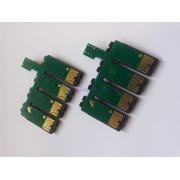 Чипы для СНПЧ к Epson Stylus Photo R2880 с кнопкой обнуления, на 8 цветов