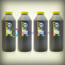 Чернила OCP для HP Deskjet Ink Advantage 3525, 5525, 6525, 4615, 4625 (картриджи HP 655, 685), пигментные + водные, комплект 4 x 1 литр
