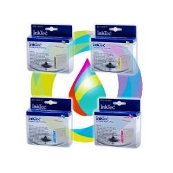Комплект картриджей InkTec для Brother DCP-130C, DCP-135C, DCP-150C, DCP-330C , DCP-350C, DCP-540CN, DCP-750CW 4 шт, неоригинальные