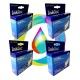 Комплект картриджей InkTec для Epson Stylus SX130, S22, SX125, SX230, SX235W, SX420W, SX425W, SX430W, SX435W, SX438W, SX440W, SX445W, SX450W, BX305F, BX305FW, SX120 4 шт, неоригинальные