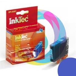 Картридж для Canon Pixma iP4000, iP5000, iP3000, iP6000D, iP8500, MP780, MP760, MP750, i560, i9950 совместимый InkTec синий BPI-806C (BCI-5C, BCI-6C), Cyan
