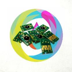 Чипы для перезаправляемых картриджей (ПЗК/ДЗК) плоттеров Epson Stylus Pro 7600, 9600, 4000 комплект 7 штук