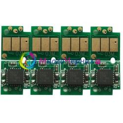 Чипы для перезаправляемых картриджей и СНПЧ для Brother DCP-J4110DW, MFC-J4410DW, MFC-J4510DW, MFC-J4610DW, MFC-J4710DW, DCP-J132W (LC123, LC125, LC127), одноразовые, 4 цвета