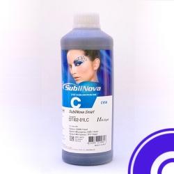 Чернила InkTec SubliNova Rapid для печатающих голов Epson DX5 и DX7 (SEB-B01LС), сублимационные, Cyan голубые, 1 литр