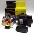 Набор Plug-n-Print для заправки цветных картриджей HP Officejet 4110, 4215, 4315, 4255, 4355, 5505, 5510, 5608, 5610, 5615, 6110, J3508, J3608, J3600, J3680 Color (с 6 контейнерами чернил)