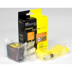 Набор Plug-n-Print для заправки желтых картриджей HP655, HP178, HP920 HP DeskJet 3070a, 3070, HP Photosmart 5510, B110, 7510, B110b, 6510, B010b, B210b, 5515, B109, B109c, B209a, C310b, 5520, B209b, B110a, C410 Yellow c контейнером чернил на 20 заправок