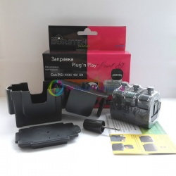 Набор Plug-n-Print для заправки черного картриджа Canon MG3540, MG4240, MG2240, MG3240, MG2140, MG3140, MX394, MX454, MG4140, MX524, MX374, MX434, MX514, MX534, MX474 PG-440 Black (с чернилами OCP на 3 заправки)