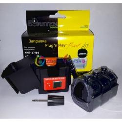Набор Plug-n-Print для заправки черных картриджей Officejet 4110, 4215, 4315, 4255, 4355, 5505,5510, 5608, 5610, 5615, 6110, J3508,J3608, J3600,J3680 Black (с чернилами OCP на 3 заправки)