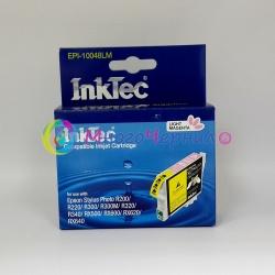 Картридж для Epson Stylus Photo R300, R220, R200, RX500, R320, RX620, R340, RX600, RX640 светло-пурпурный совместимый InkTec EPI-10048LM (T0486) Light Magenta