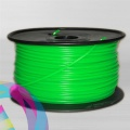 ABS пластик светящийся зеленый (fluorescent/neon green) для 3D-принтеров Makerbot, Wanhao, Cube, UP! mini, UP Plus, Picaso 3D Builder/Designer и др., диаметр нити 1,75 мм, 1 кг