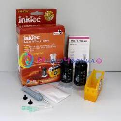 Заправка для Canon PIXMA iP3600, MP550, MP540, iP4600, iP4700, MP640, MP630, MP560, MX870, MP620, MX860, MP980, MP990, заправочный набор InkTec BKI-9020D для черного картриджа PGI-520BK