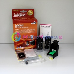 Заправка для Canon MP210, MP160, MP190, MP140, MP220, iP1800, MP150, MP180, MP170, iP1900, iP1600, iP2200, MP450, iP2500, iP2600, MX300, MX310, iP1200, iP1700, MP460, iP1300 заправочный набор InkTec BKI-9040D для черных картриджей PGI-40, PGI-50