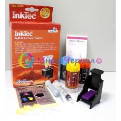 Заправка для Canon MP210, MP160, MP140, MP190, iP1800, MP220, MP150, iP1900, iP1600, MP180, iP2200, MP170, iP2600, MX300, iP2500, iP1200, MP450, iP1700, MX310, MP460, iP1300 набор для заправки цветных картриджей CL-41, CL-51, InkTec BKI-9041C