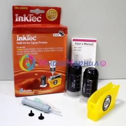 Заправка для Canon iP4200, iP4500, iP5200, iP4300, MP610, MP600, MP500, iP5300, iP6700d, MP800, MP530, iP6600d, Pro9000, MP830, MP810, MP970, iP6210d, MX850, iP6220d, MP960, MP950 набор для заправки черного картриджа CLI-8BK, InkTec BKI-9080D