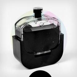 PUSH-контейнер для заправки картриджей HP 650/122 с модифицированной крышкой и принтера BURSTEN KING 1015, черный (Black)