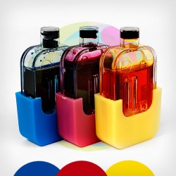 PUSH-контейнеры для заправки картриджей Bursten King Canon CL-441, CL-38, CL-41, CL-51, CL-511, CL-513, цветные (Cyan, Magenta, Yellow), комплект 3 шт.