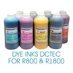 Чернила для принтеров Epson Stylus Photo R1800, R800, DCTec, водные, комплект 8 х 1000 мл