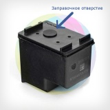 Перезаправляемый картридж BURSTEN King HP 122 черный HP DeskJet 2050, 1000, 1050, 1050a, 3050, 3050a, 2000, 3000, J110A Black (для заправки PUSH-контейнерами), заправленный
