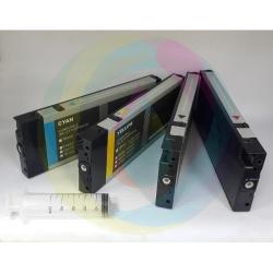Перезаправляемые картриджи (ПЗК/ДЗК) для Epson Stylus Pro 4450, B-310N (B310), B-300, B-500DN, B-510DN (B510), 4 x 220 мл., без чипов, с пакетом, непрозрачные